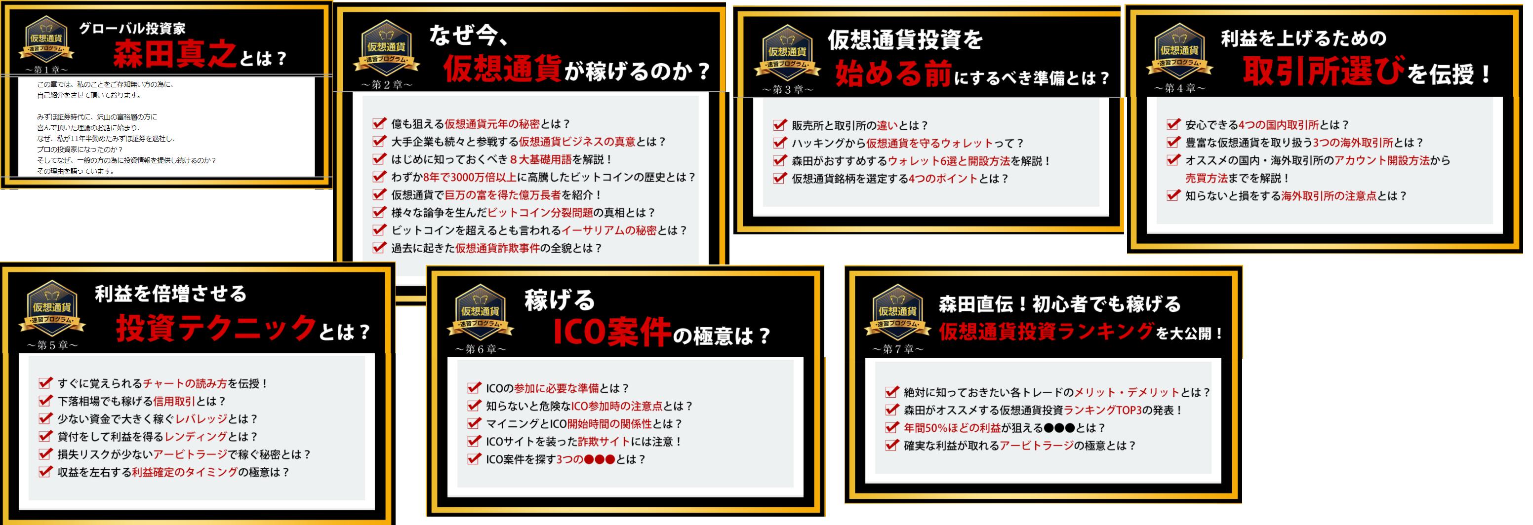 森田真之の仮想通貨速習プログラムの商品内容