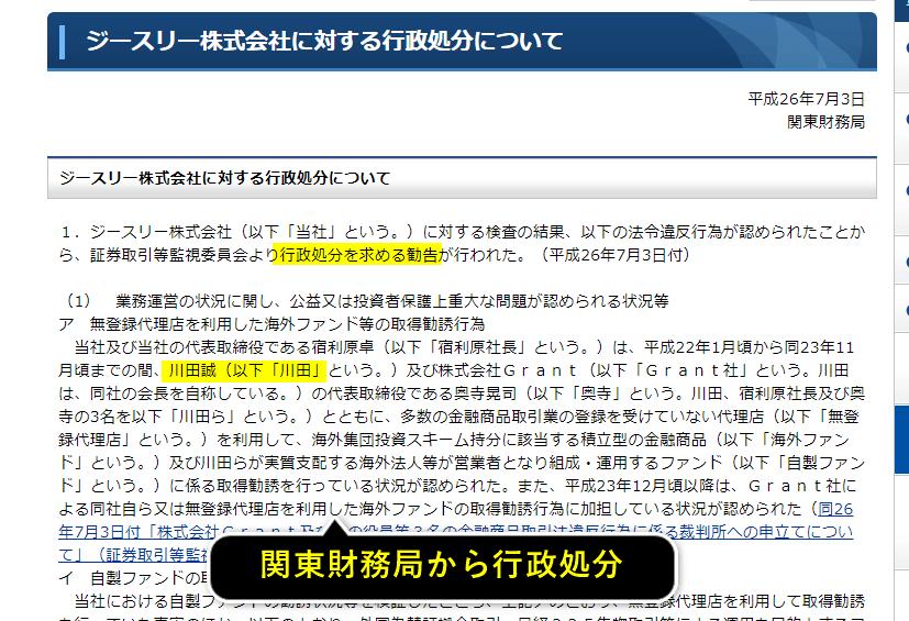 松岡誠の行政処分について