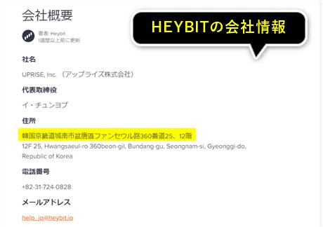 HEYBIT(ヘイビット)の会社情報
