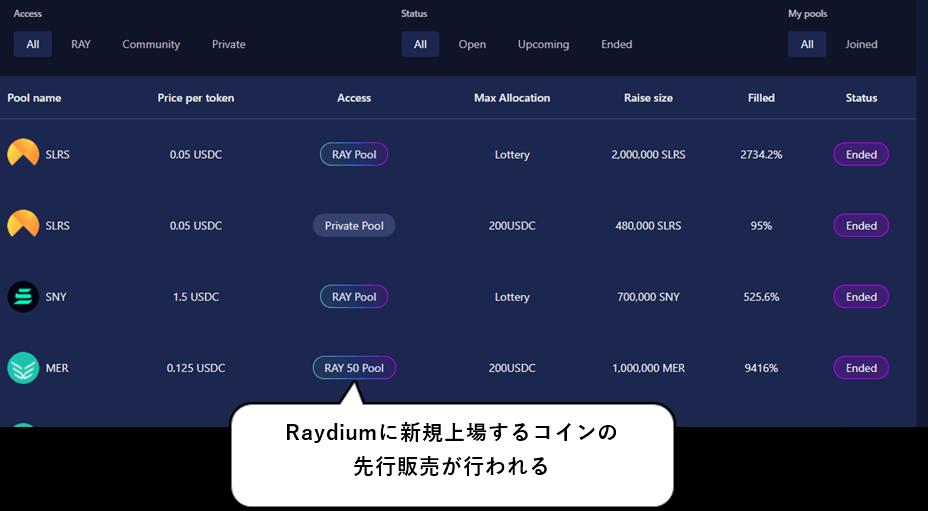 RaydiumのAcceleRaytor